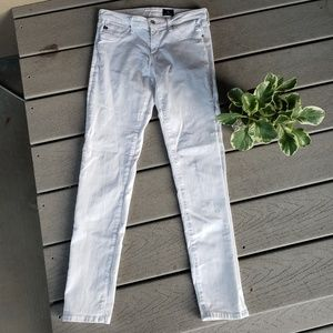 AG White The Legging Ankle Skinny Jeans Size 28